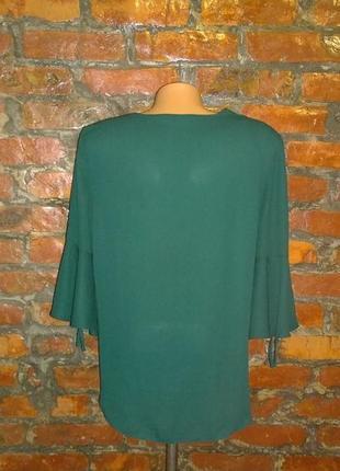 Свободная блуза на запах с объемными рукавами new look3