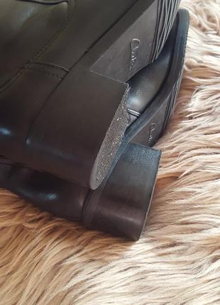 Черные кожаные сапоги clarks,сапоги clarks,черные сапоги,сапоги с заклепками с пряжками4