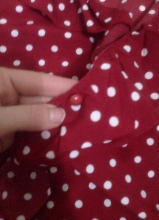 Блуза в горох на запах2