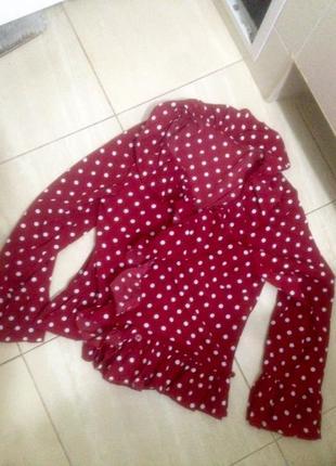 Блуза в горох на запах5