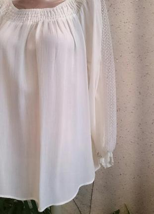 Шикарная блуза с кружевом на рукавах с биркой4