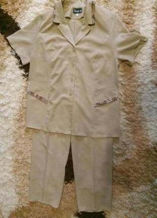 Фирменный брючный костюм р.54 тм natali m1
