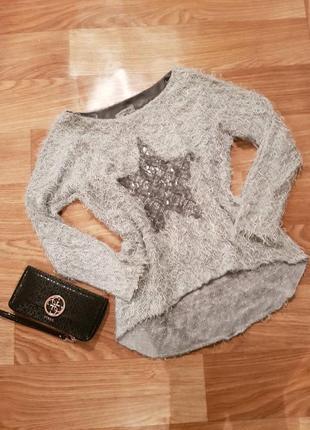 Фирменная, красивая кофта травка, свитер1