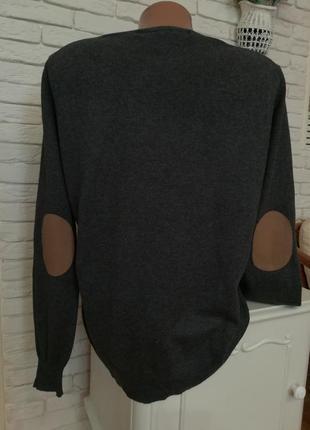 Приятный мягчайший котоновый свитерок с заплатками на локтях,p.m,lzara2