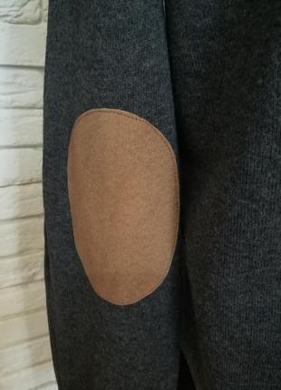 Приятный мягчайший котоновый свитерок с заплатками на локтях,p.m,lzara3