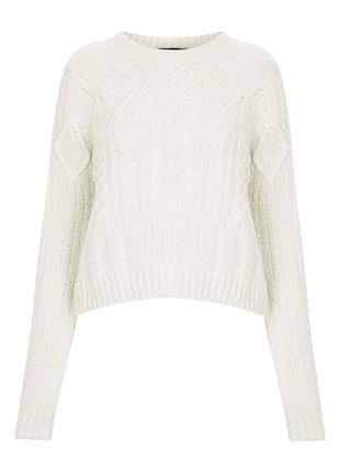 Вязаный свитер в косы2 фото
