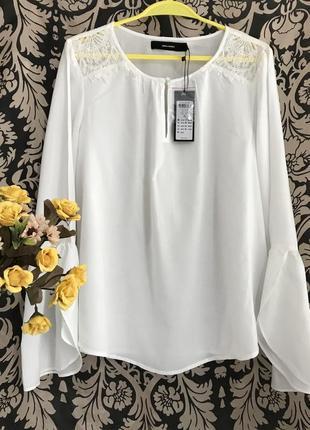 Новая 👑♥️👑 белая вискозная блузка vero moda, xl, 50-52.1