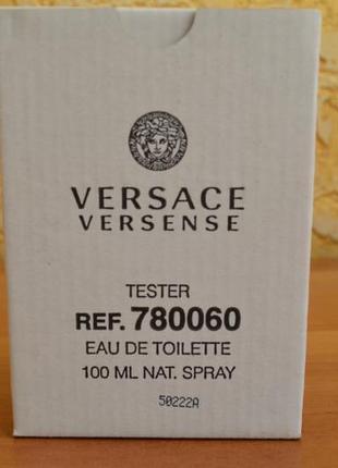 Versace versense туалетная вода 100 ml тестер оригинал италия5