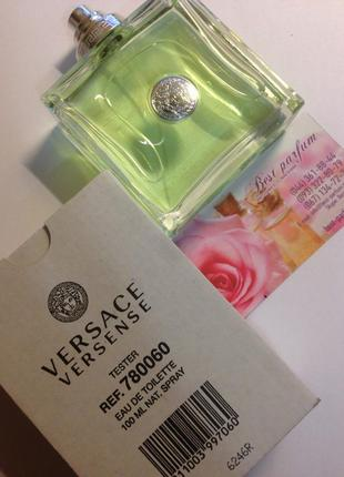 Versace versense туалетная вода 100 ml тестер оригинал италия