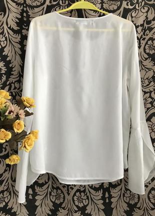 Новая 👑♥️👑 белая вискозная блузка vero moda, xl, 50-52.2