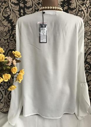 Новая 👑♥️👑 белая вискозная блузка vero moda, xl, 50-52.5