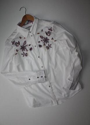 Рубашка esprit с вышивкой. размер 121