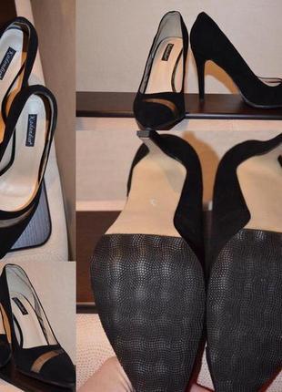 Элегантные классические замшевые туфли-лодочки