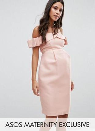 Роскошное плотное вечернее платье asos для беременных1
