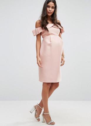 Роскошное плотное вечернее платье asos для беременных2