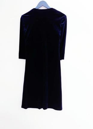 Бархатное платье миди платье на запах с королевского бархата2