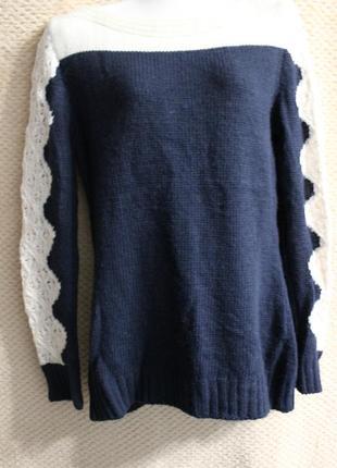 Теплый красивый свитер + подарок2