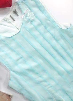 Мятное шифоновое платье-плиссе миди asos4 фото
