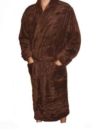 Халат мужской махра ( велсофт),размер 50