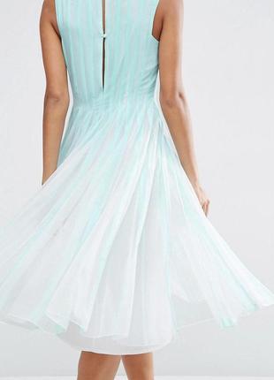 Мятное шифоновое платье-плиссе миди asos3 фото