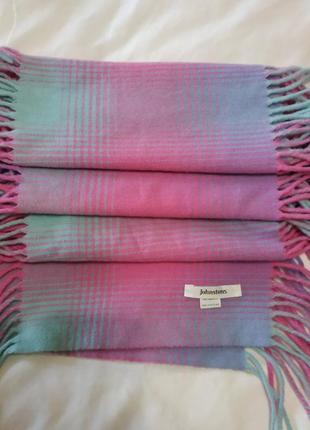 Шотландский шерстяной шарф johnstons 100%lambswool1 фото