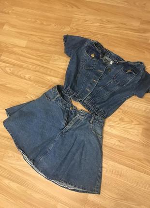 Костюм джинсовый , платье1