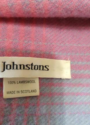 Шотландский шерстяной шарф johnstons 100%lambswool5 фото
