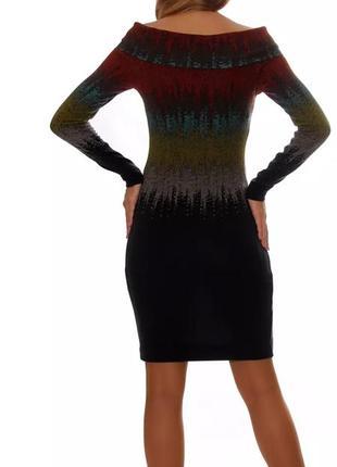 Яркое ангоровое платье с воротником-хомутом от kamelia2