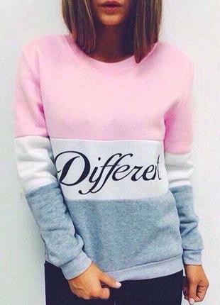 Женский свитер джемпер пуловер в полоску different1