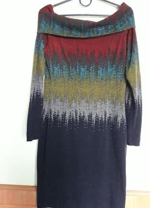 Яркое ангоровое платье с воротником-хомутом от kamelia4