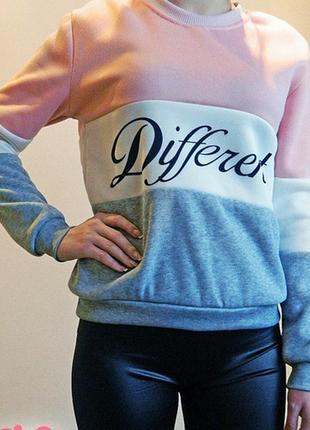 Женский свитер джемпер пуловер в полоску different2