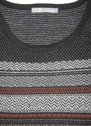 Платье туника орнамент мохер хлопок вискоза в составе мягкое теплое marks & spencer4