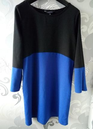 Черное синее короткое платье new look.1
