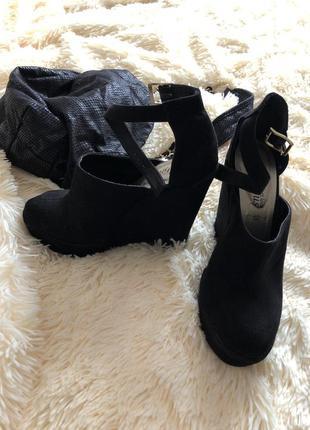 Замшевые туфли new look1