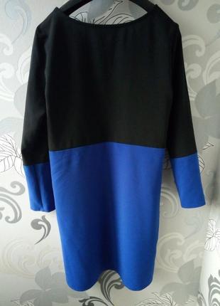 Черное синее короткое платье new look.2