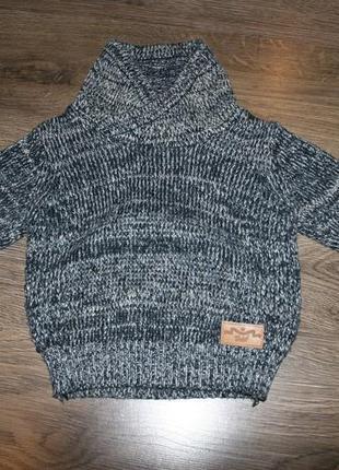 Вязанный свитшот (кофта, свитер) rebel рр9-12мес(80см) 70грн