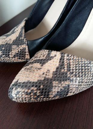 Мега стильные туфли clarcs с англ.сайта натуральная кожа со вставкой змеиной кожи2