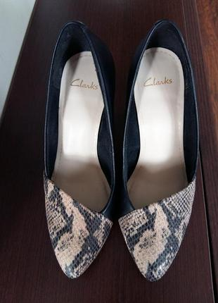 Мега стильные туфли clarcs с англ.сайта натуральная кожа со вставкой змеиной кожи4
