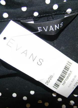 Новый блузон в горошек очень большого размера evans3