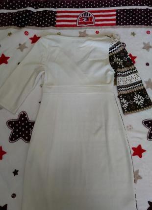 Новогоднее рождественское уютное платье с v-вырезом тм vilenna5