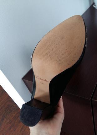 Мега стильные туфли clarcs с англ.сайта натуральная кожа со вставкой змеиной кожи5
