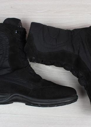 Зимние ботинки geox оригинал, размер 39 (замшевые сапоги, дутики, джеокс gore-tex)5