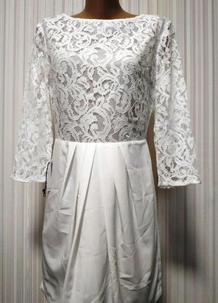 Красивое,нарядное,белоснежное платье1