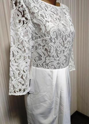 Красивое,нарядное,белоснежное платье2