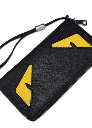 Вместительный женский кошелек клатч с ярким дизайном2