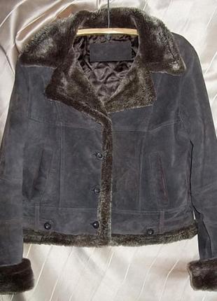 Куртка женская замшевая короткая yessico германия. размер м