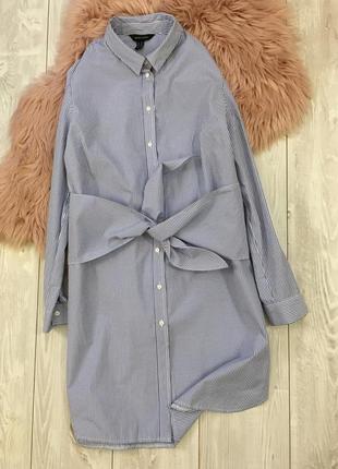 Платье рубашка с узлом1 фото