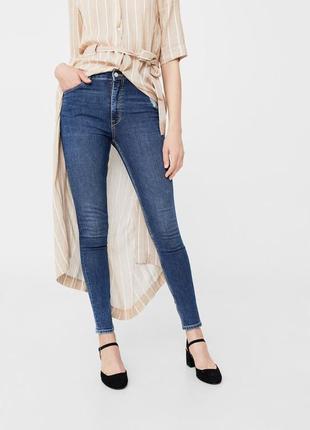 Шикарные джинсы с высокой посадкой от mango, 36, 38, 40р, испания