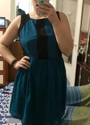 Изумрудное платье из шифона 16рр3