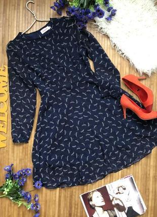 Новое шифоновое нарядное платье в стрекозы1 фото